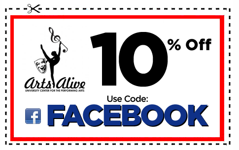 Arts Alive Facebook Coupon