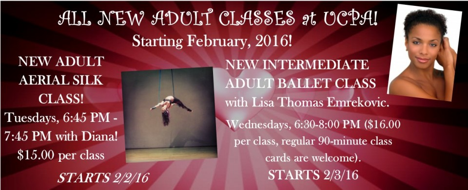 ALL NEW ADULT CLASSES FEB 2016